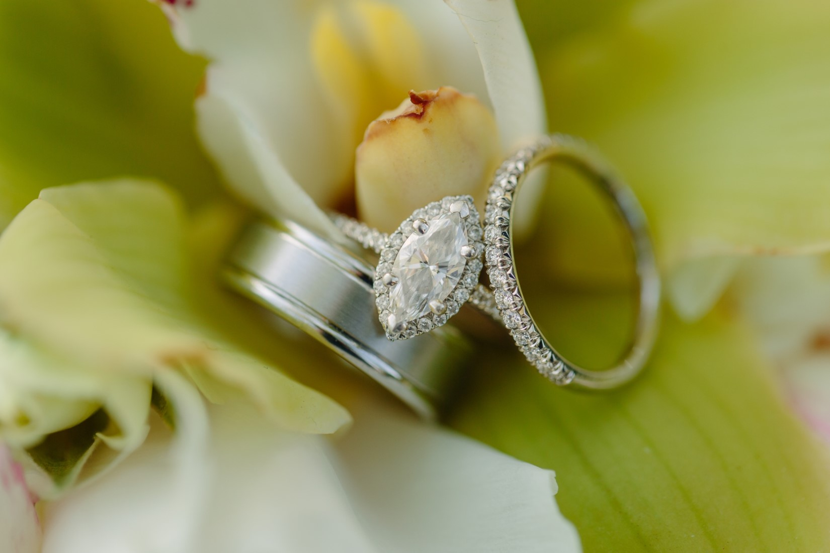 wedding rings engagement ring marquis diamond with halo