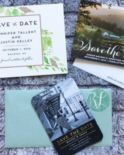Raleigh wedding planner, Rowan Lane Events, save the dates
