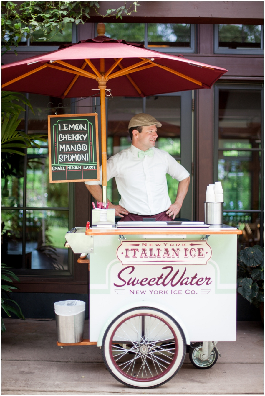 Italian Ice cart for Raleigh wedding