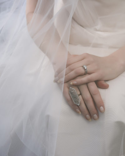 bride and engagement ring Raleigh