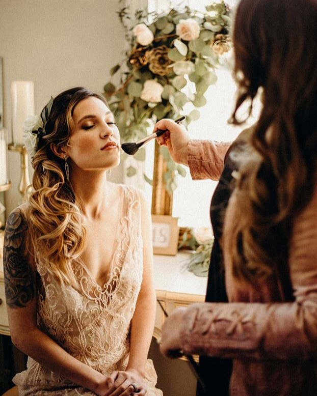 hair and make up artist wedded kiss raleigh, nc